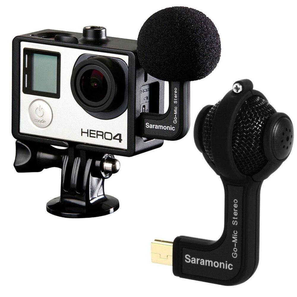 Saramonic gomic Профессиональный мини двойной X/Y стерео мяч конденсаторный микрофон для GoPro HERO3, HERO3 +, HERO4 экшн-камер