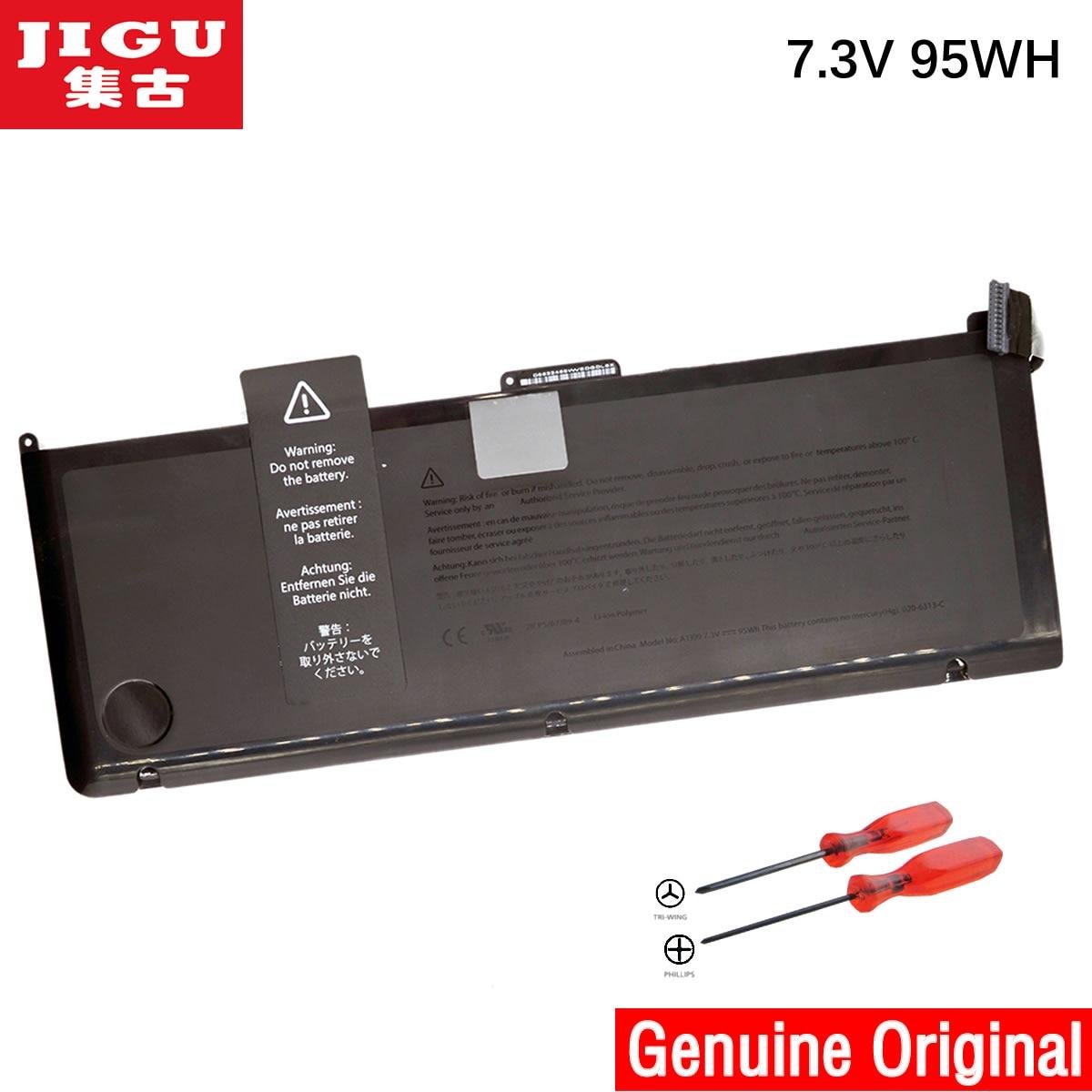 JIGU A1309 Original Laptop Battery For APPLE MacBook Pro 17 A1297  [2009 Production] MC226*/A MC226CH/A 95WH 43w4342 44e8763 battery for mr10i mr10is original 95