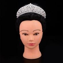 כתר בגימור אופנתי פנינת עיצוב שיער אביזרי תכשיטי יוקרה לנשים AAA + זירקון BC4955 קורונה פרינססה