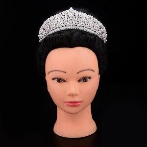 Image 1 - 王冠ヘッドバンドファッショナブルな真珠のデザイン結婚式のヘアアクセサリーの高級ジュエリー aaa + ジルコン BC4955 コロナプリンセサ