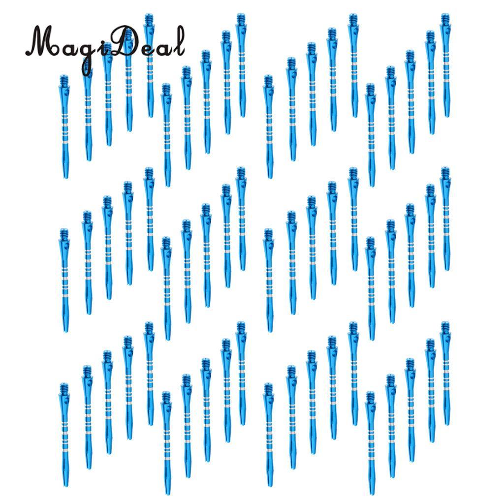 MagiDeal 60 шт. 52 мм Нитки сплав re-рифленая Дарт стебли Валы синий
