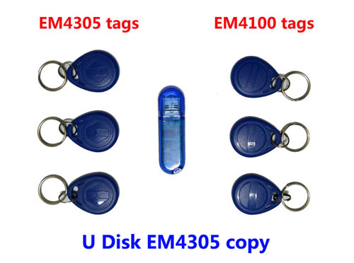 Free shipping, RFID 125Khz Copier U disk with software , ID Card Copy writer + 3pcs copied EM4305 Tag+3pcs em4100 tags,min:1pcs ...