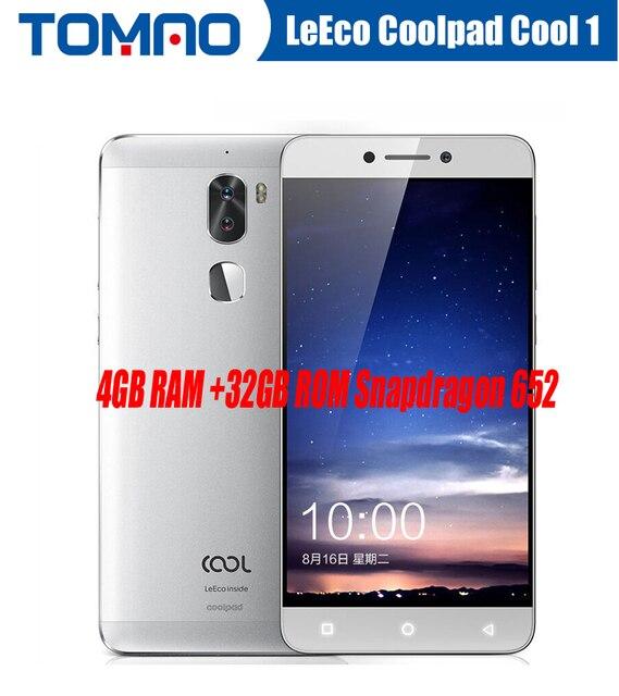 """Оригинальный 5.5 """"FHD LeTV Прохладный 1 двойной LeEco Coolpad Cool1 Смартфон Snapdragon 652 4 ГБ 32 ГБ 13MP двойной камеры отпечатков пальцев Google"""