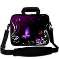Ноутбук плечи сумка для macbook air/pro/hp/asus 13 13.3 14 15 15.6 17 Фиолетовый бабочка неопрена Ноутбук messenger
