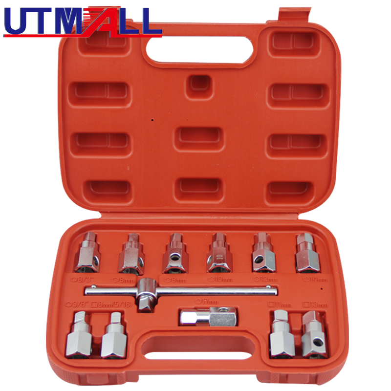 12PCS Drain Plug Sump Key Set Gearbox Axle Repair Oil Sump Screw Sleeve Wrench Oil Bottom Screw Wrench