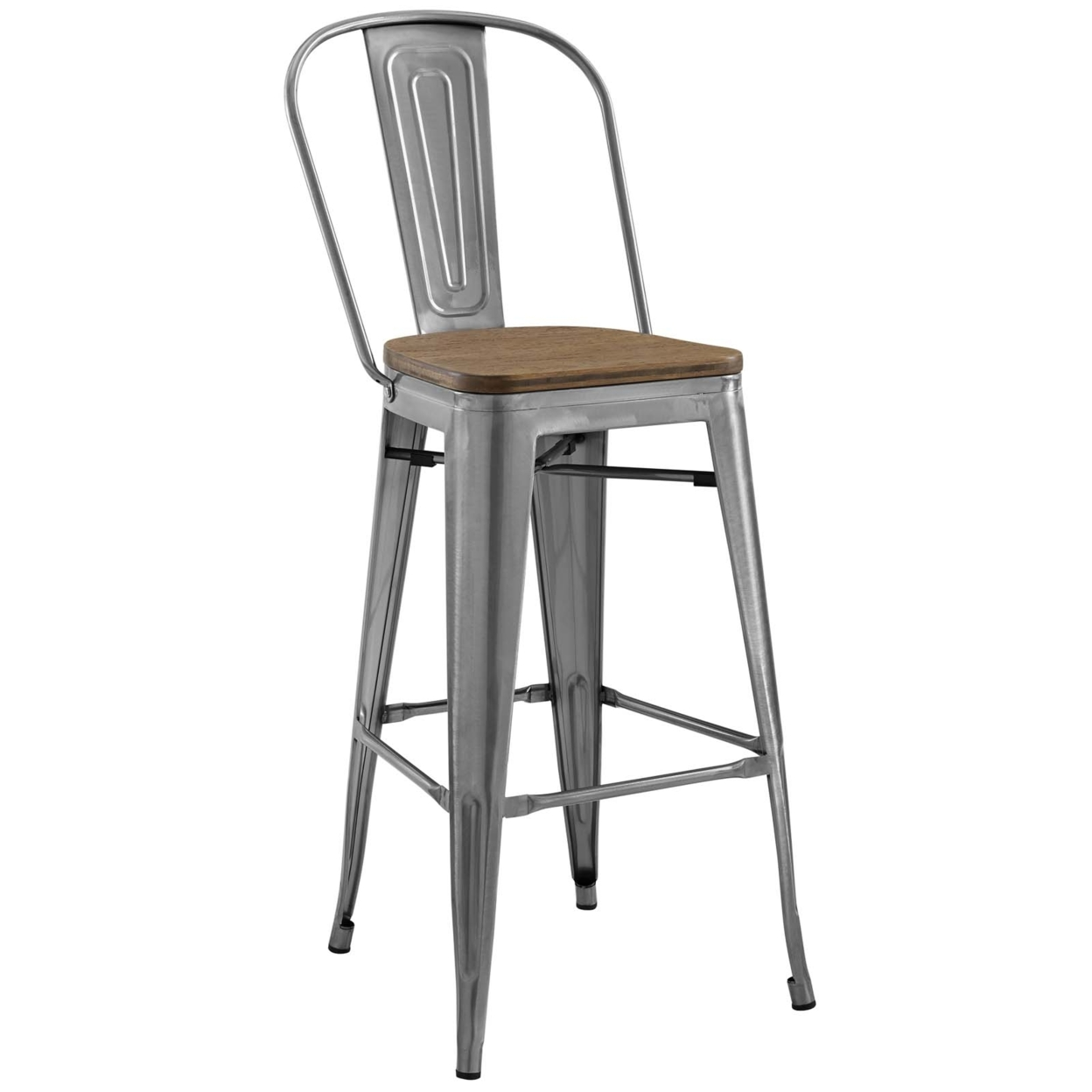 Fashinonable Promenade Bar Stool In Gunmetal Gray ...