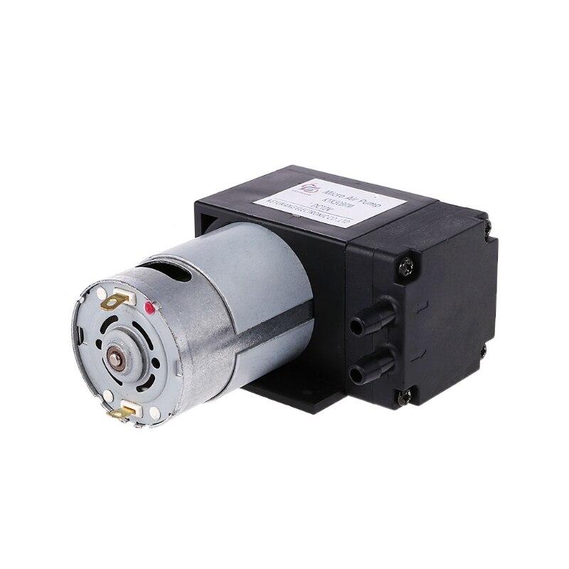 12V Mini Vacuum Pump 8L/min High Pressure Suction Diaphragm Pumps With Holder -C
