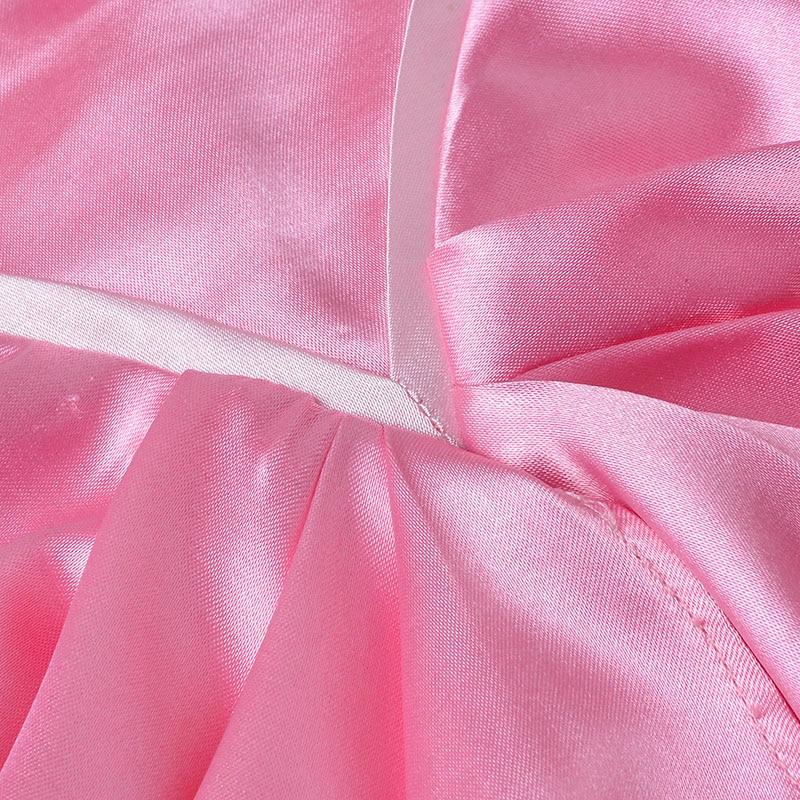 Princesa Ariel vestido rosa La Sirenita cosplay de lujo vestido de ...