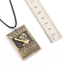 Nami Ace Law Nami Sanji Wanted Poster Necklace