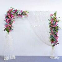 Flone Искусственные Свадебные цветы кованого железа арки реквизит Свадебный Цветочный узор стены вечерние уличные предварительно функциона