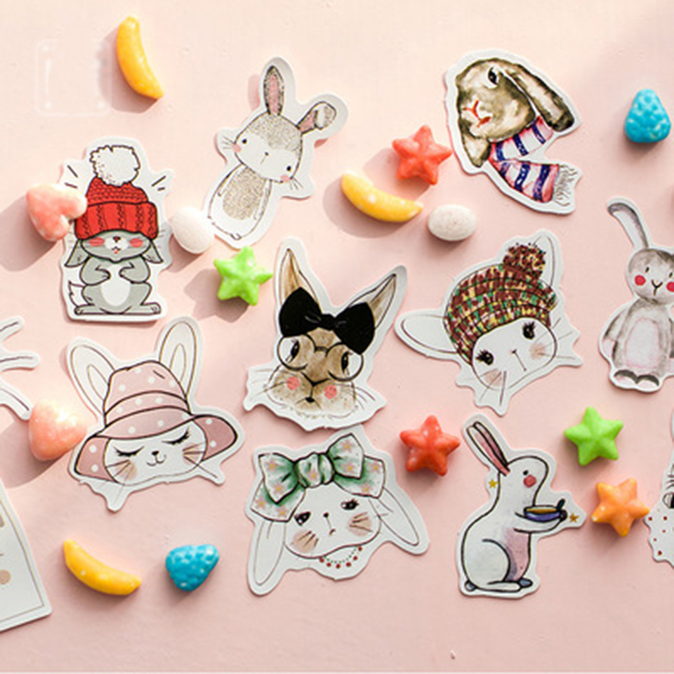 Aliexpress buy tronzo easter gift bags sticker birthday aliexpress buy tronzo easter gift bags sticker birthday party decoration kids 45pcs self adhesive paper bunny rabbit sticker easter decoration from negle Images