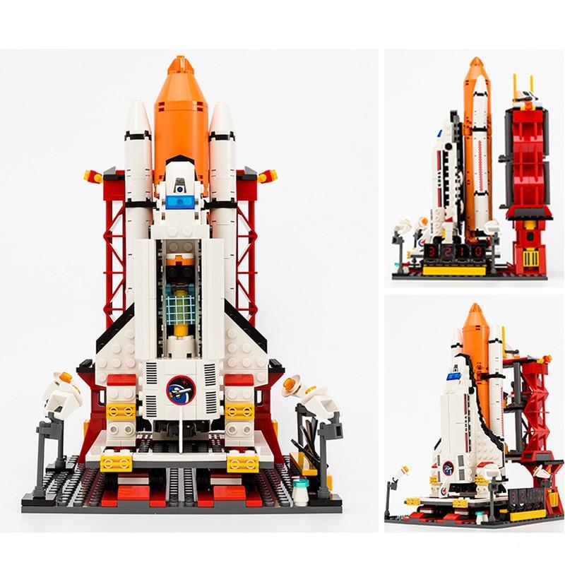 679+pcs 8815 Assembly Building Blocks City Space Shuttle Launch Center Model Blocks DIY Bricks Building Toys For Children Gift