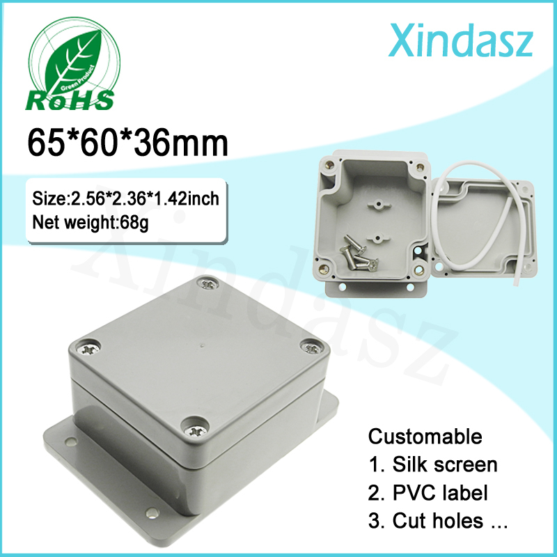 High quality Small Plastic Junction box waterproof project enclosure for electrical equipment wall mount plastic enclosure 1 piece free shipping plastic enclosure for wall mount amplifier case waterproof plastic junction box 110 65 28mm
