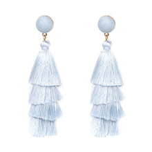 New Arrival Fashion Statement Jewelry GOOD Tassel Dangle Drop Earrings Elegant Fringing Earring For Women Wholesale 8 Colors