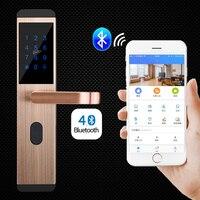 Умный дверной замок Bluetooth приложение пульт дистанционного управления/Пароль/ключ/карта/Multifuctional электронный замок для домашнего офиса квар