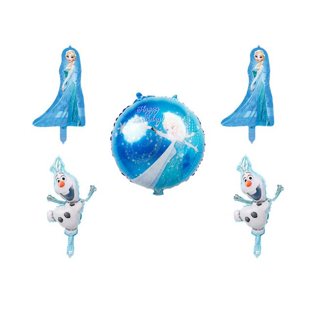 5pcs Disney frozen anna and elsa balloon olaf birthday party decorations air balls baby shower girl princess party supplies toys