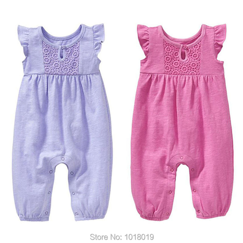New 2017 Summer 100% Cotton Ropa Bebe Brand Newborn Baby Girls Clothing Creeper Jumpsuit Short Sleeve Rompers Baby Girls Clothes 100% cotton ropa bebe baby girl rompers newborn 2017 new baby boys clothing summer short sleeve baby boys jumpsuits dq2901