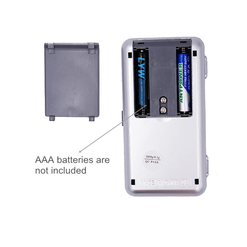 1 kg 0.1 g Electrónica portátil electrónica de joyería de - Instrumentos de medición - foto 5