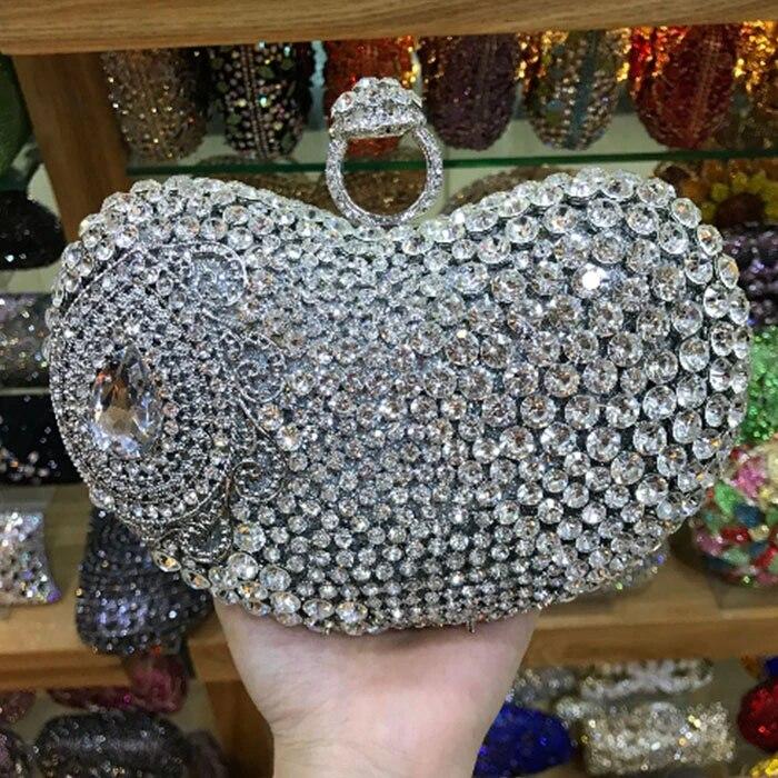Heart Shape Evening Clutch Bag Dinner Party Wedding Prom Ladies Shoulder Handbag