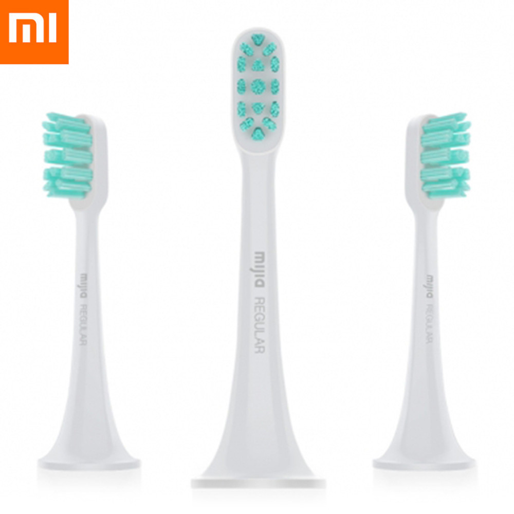 3pcs Xiaomi Mi Home Original Sonic Electric Toothbrush General Brush Head Oral Care Tool Tooth Brush Heads Hygiene Teeth Care 3pcs xiaomi mi home sonic electric toothbrush replacement head general brush head oral care tool