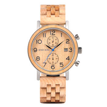 Erkek Kol Saati Luxury Brand BOBO BIRD New Designs Watch Man Wooden Band Accept Dropshipping Father's and Husband's Great Gift - DISCOUNT ITEM  80% OFF All Category