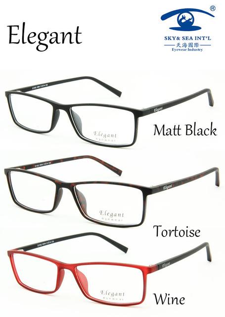 Tr90 óculos óculos limpar óculos de estilo elegante E1002