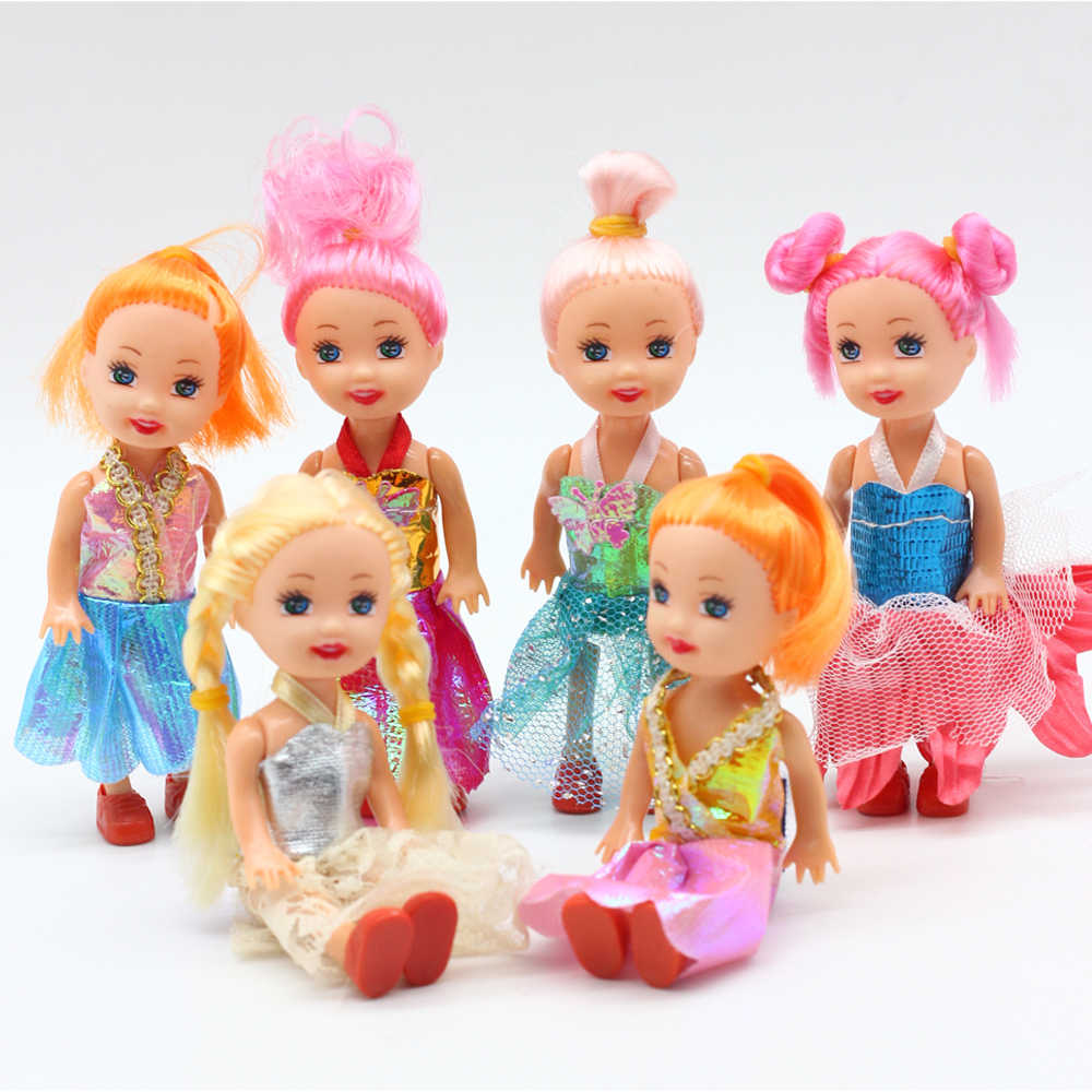1pc 3.5inch Popular fashion dolls Toys for Girl barbieDolls , Super cute small Kelly dolls for barbiedolls er004