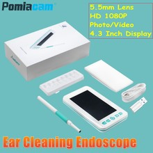 4,3 Zoll Display familie Healthcare Otoskop Nase Ohr Inspection Scope 1080 P Visuelle Handheld Endoskop Kamera Mundhöhle Tester