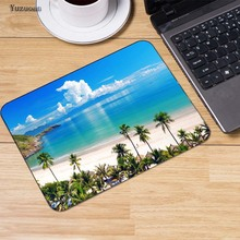 Yuzuoan Cute Dolphins Jump Out Sea  Animal Mousepad Computer PC Loptop Optical Gaming Mice Mat Rubber Mouse Pad 250x290mm