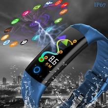 LIGE 2019 New Sport Smart Bracelet Blood Pressure Heart Rate Monitor Watch Men Women Fitness Tracker Pedometer Band