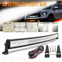 1500 W 50 inch Изогнутые Светодиодный свет бар светодиодный бар свет работы для бездорожья автомобиль тягач 4x4 внедорожник ATV светодиодный место +