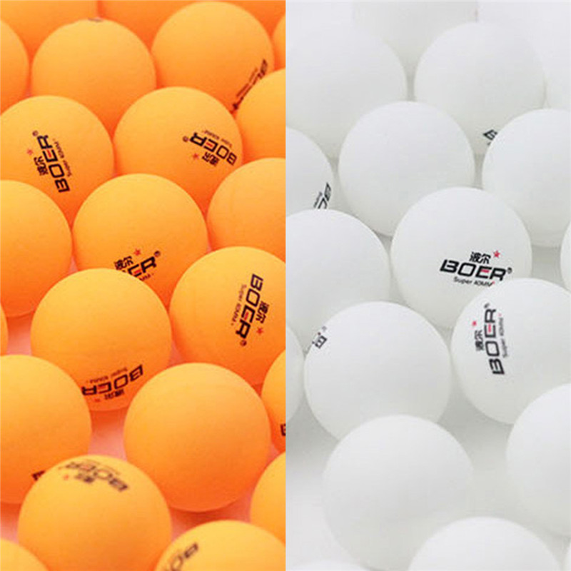 цена на BOER 150pcs/lot Standard 40mm Advanced Professional Training Table Tennis Balls White Yellow Ping Pong Ball for Leisure Match