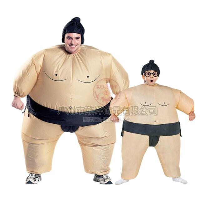 halloween lustige sumo aufblasbare kostume erwachsene kinder spiele party lustige kostum requisiten aufblasbare anzuge wrestler kostum