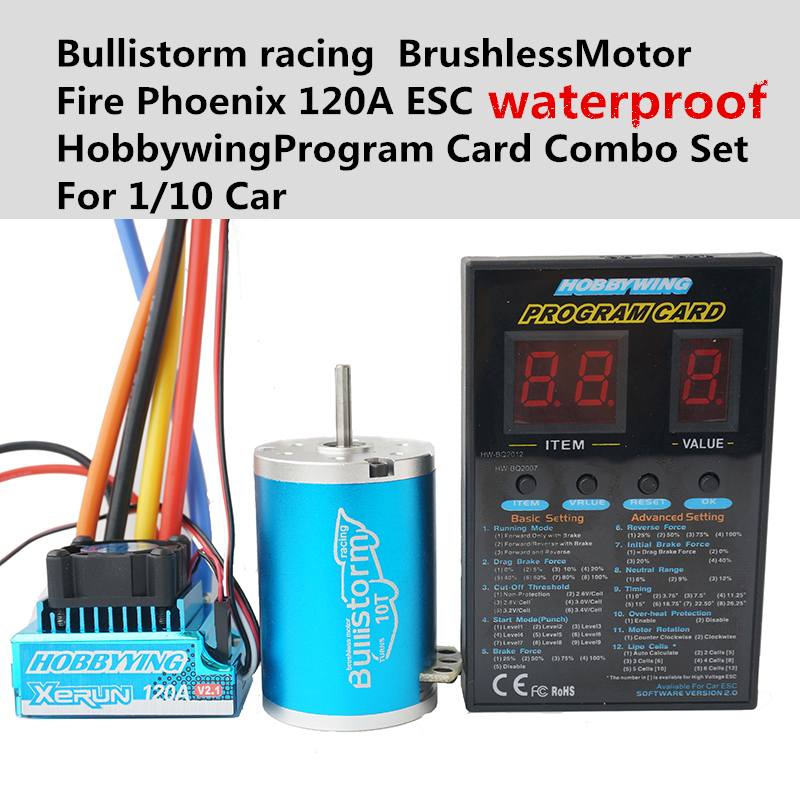 Bullistorm5 5t 13 5t 2p sensorless 3650 brushless motor for 10 5 t brushless motor