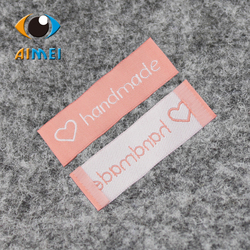 Free shipping 100pcs lot handmade clothing labels garment labels woven label free design customize main label.jpg 250x250