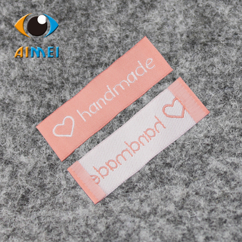 Free shipping 100pcs lot handmade clothing labels garment labels woven label free design customize main label.jpg 350x350