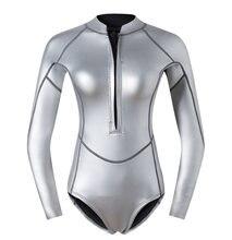 2 мм scs гидрокостюм с титановым покрытием цельный топ брюками