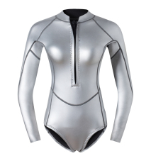 2mm SCS wetsuit  Titanium coating one piece top with pants for woman