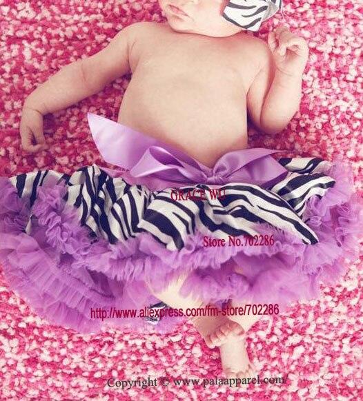 Детская юбка-пачка с рисунком зебры, крошечные юбки для новорожденных, Подарочная детская юбка-пачка - Цвет: purple ruffled