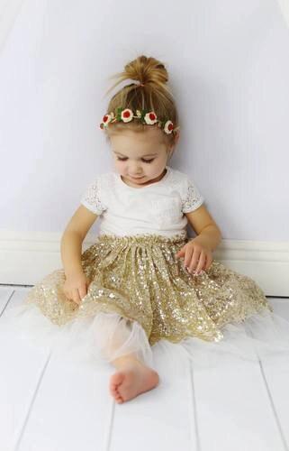 10c901a445bf Girls gold skirt