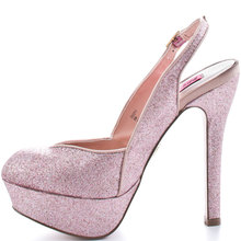 Ankle Strap Round Toe Glitter Platform Wedding Shoes Pumps Stiletto sapato para noiva Shoe Sandal For Women Made-to-order