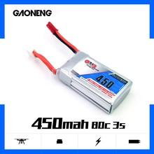 2PCS Gaoneng 450mAh 11.1V 80C/160C 3S Lipo battery with JST XT30 Plug for Lizard95