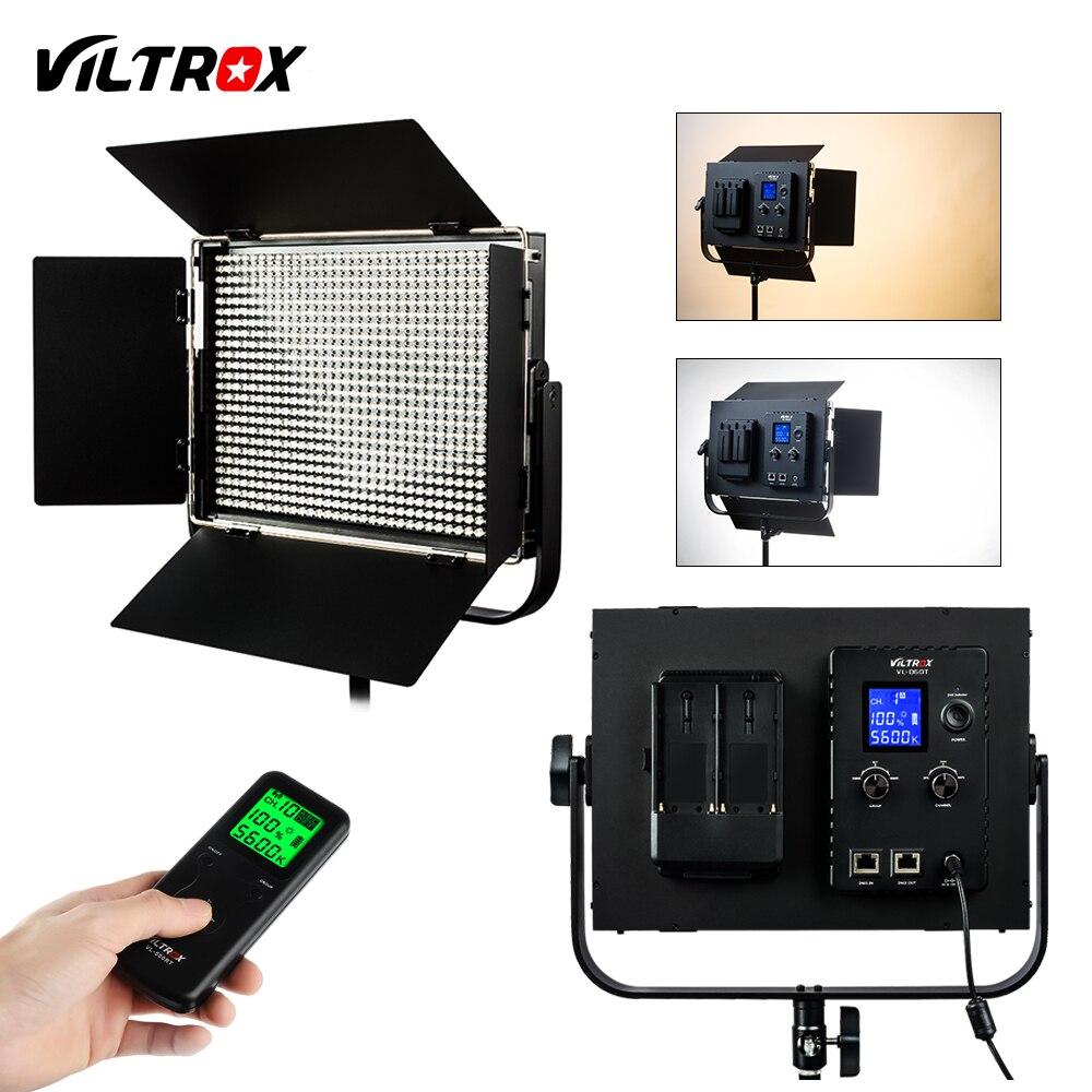 Viltrox VL-D60T Caméra Studio Vidéo LED Lumière Lampe Bi-couleur Mince En Métal Réglable luminosité et 2.4 GHz Sans Fil à distance contrôle