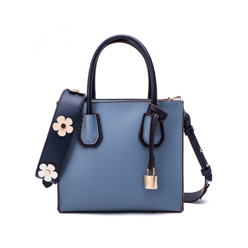 2018 Fashion Women Bags Wide Straps Bag Lock Bag Tote Shoulder Bag and Ladies Handbag Temperament