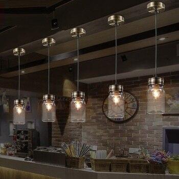 Edison Loft Style Creative Glass Bottle Droplight Modern Pendant Light Fixtures For Dining Room Hanging Lamp Indoor Lighting