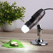 ميكروسكوب USB رقمي جديد قابل للنقل 8 Led كاميرا فيديو عالية الجودة مع حامل معدني