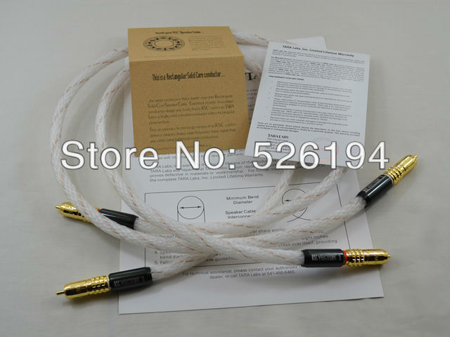 Free shipping pair TARA Labs RSC Vector 1 HIFI Interconnects cable with Gold plated RCA plug