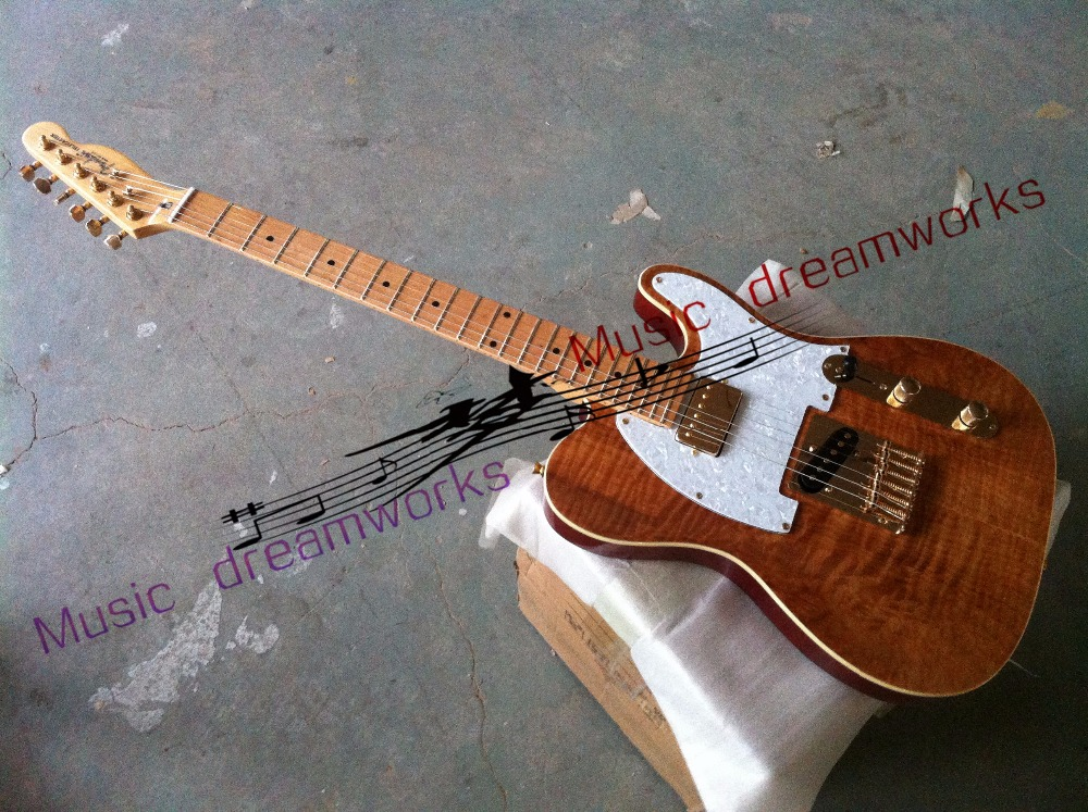 China OEM firehawk shop guitar Hot selling   TL  Electric Guitar Stained maple, tiger stripes maple  wood color china oem firehawk electric guitar schecter pure white guitar color can be changed the logo can be customized