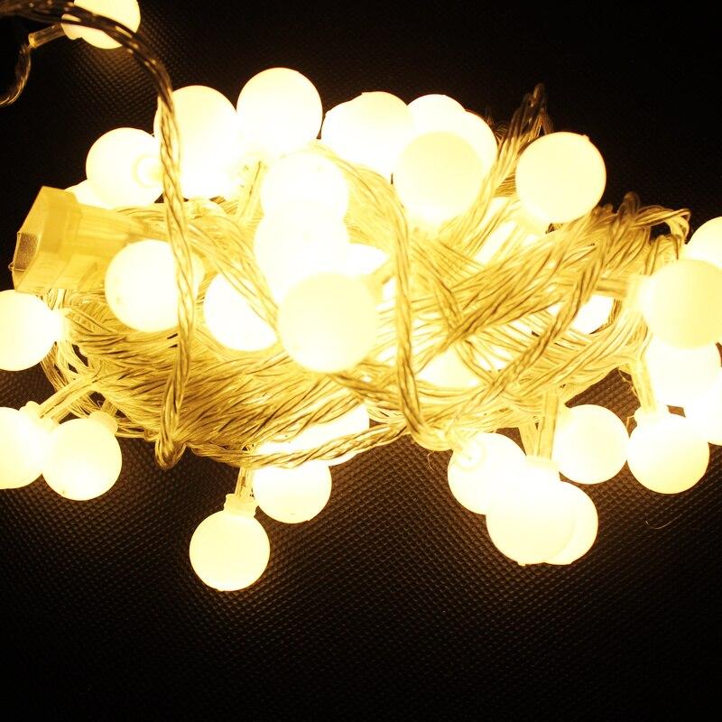 Decoratieve Lantaarn Festival Sterren Kerst Wedding 10 Meters 100 Lichten Led Knipperlicht Bal Lamp