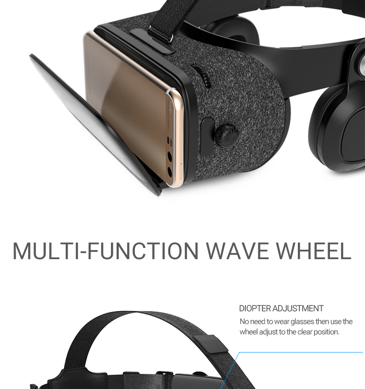 New BOBOVR Z5 VR Glasses Virtual Reality Headset BOBO VR Z5 Google Cardboard VR Box for iPhone for Xiaomi Android Smartphone (4)